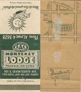 A match book cover