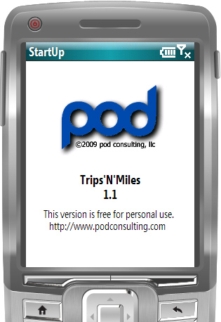 Starting TripsNMiles on Windows Mobile