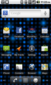 The Android 2.2 Home Screen