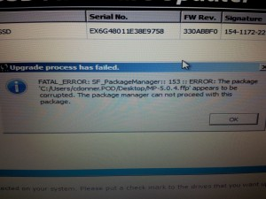OWS Firmware Updater Error