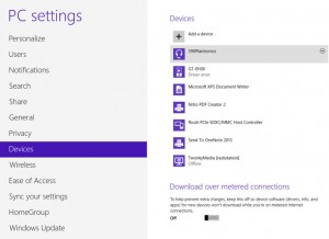 Bluetooth devices in Windows 8
