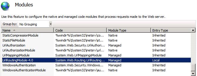 UrlRoutingModule 4.0