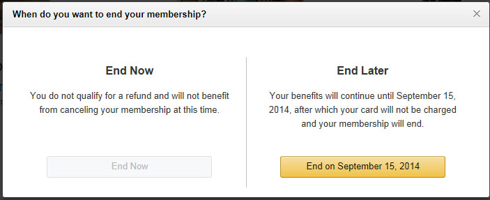 How to prevent Amazon Prime from renewing