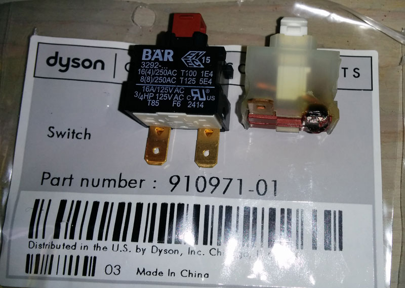 BÄR 3292 by Johnson Electric - aka Dyson part 0910971-01