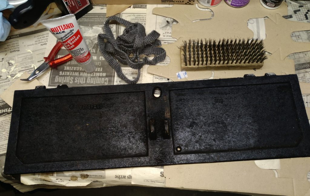 Tools needed for installing a fiberglass gasket on a fireplace damper