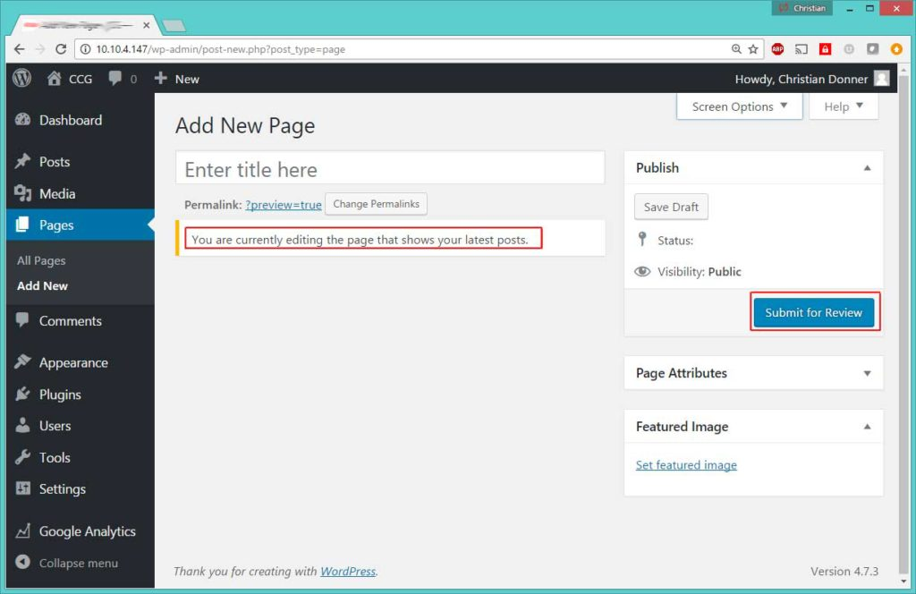Wordpress displays no editor, no Publish button on the Post page